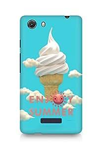 Amez designer printed 3d premium high quality back case cover for Micromax Unite 3 (Happy Summer)