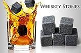 Whisky Stones - Regalo para Hombres - 9 Piedras del Whisky de Esteatita En Una Elegante Bolsa de Muselina - Preserve el Sabor de Su Whisky Irlandes o