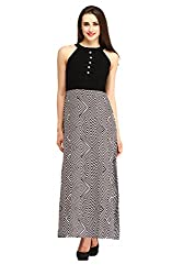 Cottinfab Women Polyester Black Dress (X-Large)