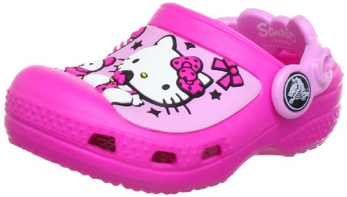 Crocs Creative Hello Kitty Candy Ribbons Neon Magenta/Carnation Mules And Clogs Sandal 12948-6L4-133 2 UK Junior