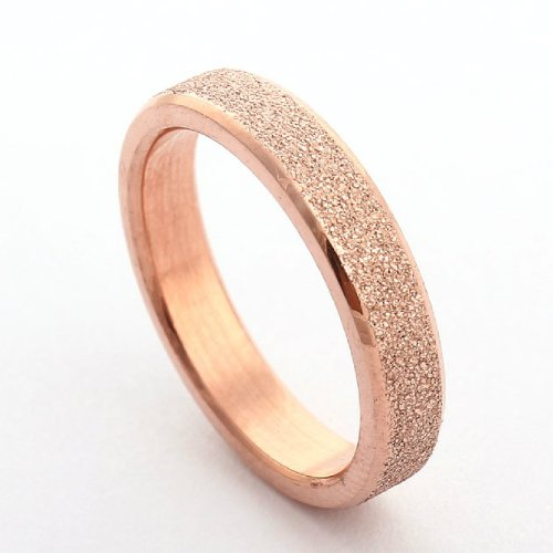 Wedding Bands Engagement Purity Rings Size 410 7, Rose Gold 4MM