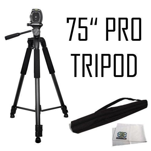 "75"" Professional Heavy Duty 3-Way Pan Head Tripod For The Canon 5D Mark Iii, 5D Mark Ii, 6D, 70D, Sl1, 60D, 7D, 7D Mark Ii, T5I, T5, T4I, T3I, T3, T2I, T1I, Xsi, Xs, Sx500 Is, Sx510 Hs, Sx520 Hs, Sx60 Hs, Sx50 Hs, G1 X, Sx150 Is, Sx160, Sx170, G12, G15, G"