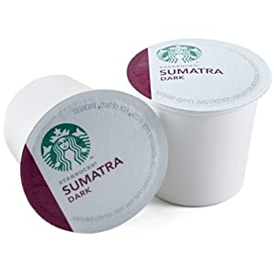 Starbucks Sumatra Dark Roast Coffee Keurig K-Cups, 96 Count
