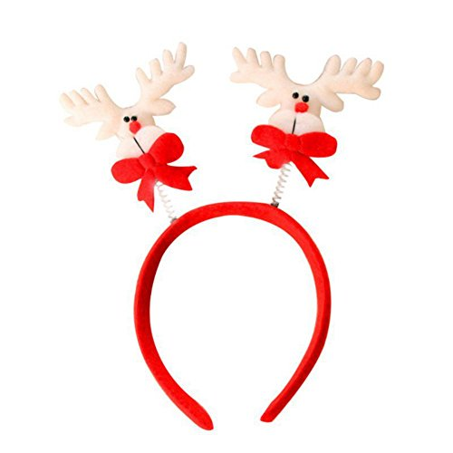 [EFINNY 1pcs Christmas House Springy Santa Claus Christmas Snowman Headband Xmas Party Reindeer] (Homemade Reindeer Costumes For Kids)