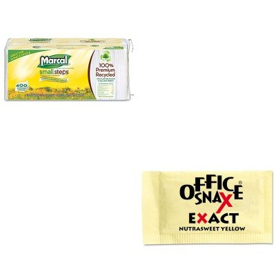 kitmrc6506ofx00062-value-kit-office-snax-nutrasweet-yellow-sweetener-ofx00062-and-marcal-100-premium