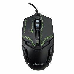 Dragon War ELE-G10 Aries Blue Sensor Gaming Mouse with Macro Function (Black)