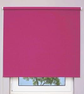 Verdunklungsrollo ~ Farbe pink ~ Größe 220x190cm (Stoffbreite x Höhe)~ weitere StandardGrößen im Angebot wählbar   Kritiken und weitere Informationen