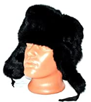 Winter Hat Natural 100% Russian Fur Rabbit ,Lg