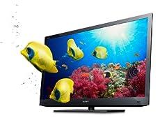 Sony Bravia KDL-32EX725BAEP 80 cm (32 Zoll) 3D-LED-Backlight-Fernseher, Energieeffizienzklasse B (Full-HD, Motionflow XR 200Hz, DVB-T/-C/-S2) ab 449,99 Euro inkl. Versand