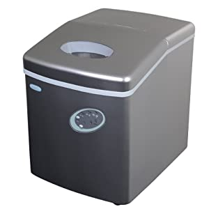 Air AI-100S 28-Pound Portable Ice Maker, Silver from NewAir