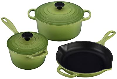 Le Creuset Signature 5-Piece Cast Iron Cookware Set, Palm