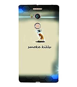 PrintVisa Quotes & Messages Smoke 3D Hard Polycarbonate Designer Back Case Cover for Gionee E8