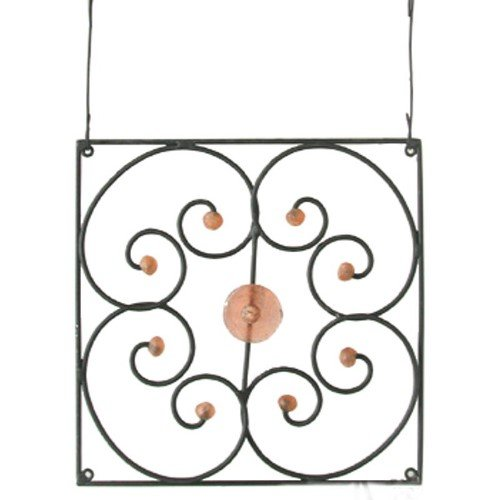 Grill Hanging & Window Decor (Ghana) Metal & Glass Harmony - Bamboula #GARGPW160P