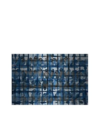 Parvez Taj Crowded Blue Aluminum Wall Art