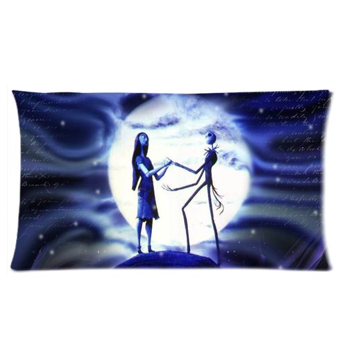 Generic Elegant The Nightmares Before Christmas Moon Car Cotton And Polyester Rectangle Standard Pillowcases Case 20 By 36 Inch front-909083