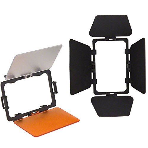 Kit walimex coupe-flux/filtres pour lampe vidéo LED