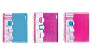Carolina Pad Notebound Colors 1-Subject Notebooks, 11 x 8.5 Inches, 80 Sheets Each, 6-Count, Colors May Vary(91066)