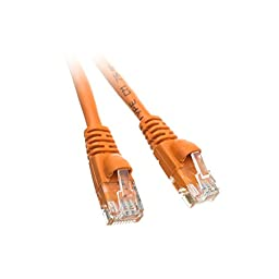 C&E 1.5-Feet Cat5e Snagless/Molded Boot Ethernet Patch Cable, 20-Pack - Orange (CNE47925)