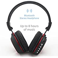 Wireless Bluetooth Headphones With Gesture Control, Built-in Microphone, FM Radio, MP3 Player With Micro SD Support