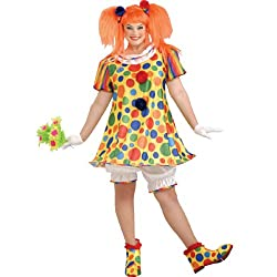 Giggles The Clown Adult Plus Costume - Plus (18-22) - Adult Costumes