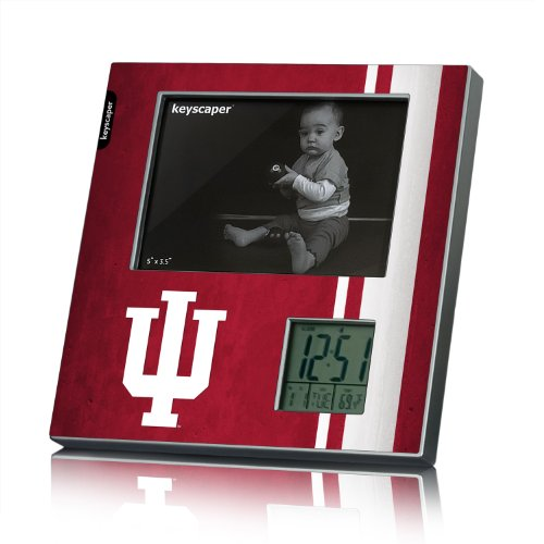Indiana Hoosiers Picture Frame And Desk Clock Fifty7 Ncaa