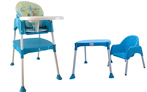 R for Rabbit Cherry Berry - The Convertible Baby High Chair - Blue (With Cushion)  available at amazon for Rs.4203