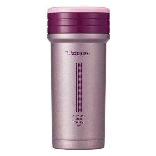 Zojirushi SM-CTE35PB 11-Ounce Stainless Mug with Tea Strainer, Pink