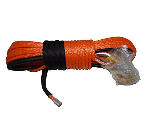 12inch94-Feet-Orange-Synthetic-Winch-Rope-Cable-with-Thimble-Sheath-and-Hook