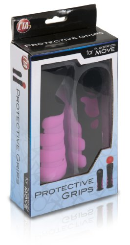 Protective Grips for PlayStation Move Controllers – Black and Pink