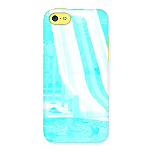 Impressive Ride Cyan White Back Case Cover for iPhone 5C