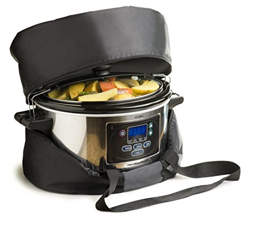Bellemain Thermal Slow Cooker Carrying Bag (L)For the Hamilton Beach 33967A Set 'n Forget 6-Quart Slow Cooker (Slow Cooker Hot Pot compare prices)