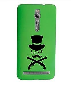 KolorEdge Back Cover For Asus Zenfone 2 - Green (1401-Ke15186Zen2Green3D)