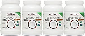 Nutiva Organic Virgin Coconut Oil, (60 Organic Fluid Ounces) (15 Ounce (Pack of 4))