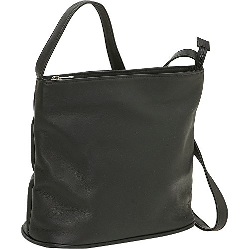 le-donne-leather-zip-top-shoulder-bag-black