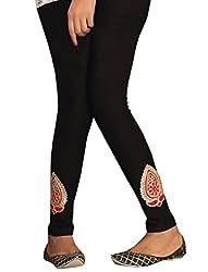 1 stop fashion Black Cotton Lycra-4 Way Leggings