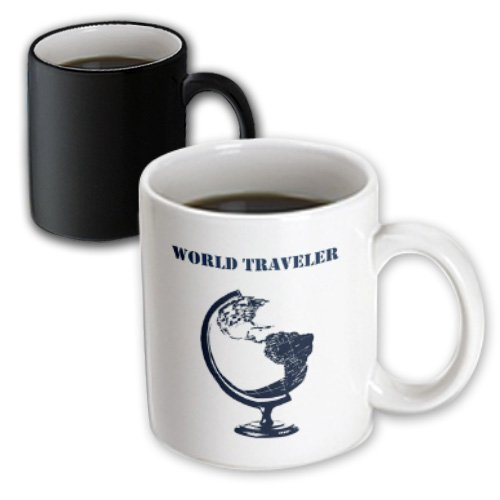 Ps Creations - World Traveler Globe Atlas Map - 11Oz Magic Transforming Mug (Mug_155757_3)
