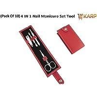 (Pack Of 10) KARP High Quality 4 Pcs Portable Stainless Steel Nail Art Manicure Set Travel Mini Nail Cutter Manicure... - B01JRQRC4O