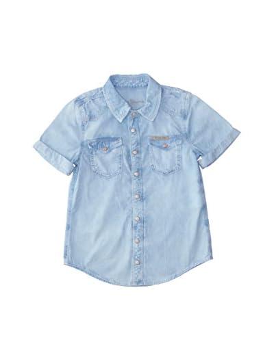 Pepe Jeans Camicia Casual Luke Junior [Blu Chiaro]