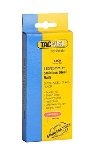 Tacwise 1066 180/25mm Stainless Steel Nails (1000 Pieces)