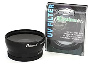Maxsimafoto - Professional conversion lens 58mm 0.45x Wide Angle with Macro & 67mm UV filter/protector for Canon 18-55mm lens 450D 500D 550D 600D 650D 1000D 1100D 1200D and G7 G9 G10 G11 G12 G15 G16 Also fits Panasonic, Olympus, Pentax, Fuji, Nikon, Minolta, etc..Or Any 58mm lens or adapter..