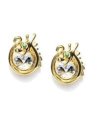 Golden Peacock Gold Plated Dragon Stud Earrings For Women