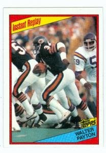 Walter Payton football card (Chicago Bears) 1984 Topps #229