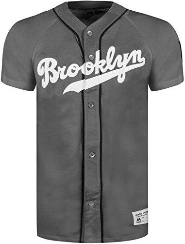 Official 'Brooklyn Dodgers'Athletic Baseball Majestic Jerseys Nero  grigio