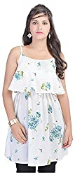 Shop Avenue Women's Halter neck Dress (White )