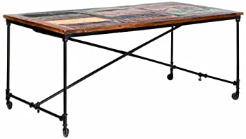 Links 85300580 Coffee Table Métal Bois Mango Rouille 90 x 180 x 77 cm