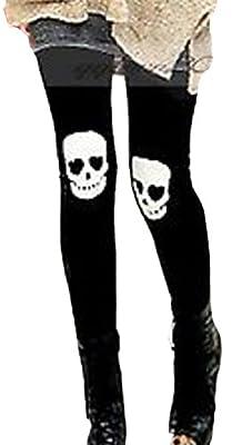 Fengbay Women's Skull Stretch Slim Fit Leggings