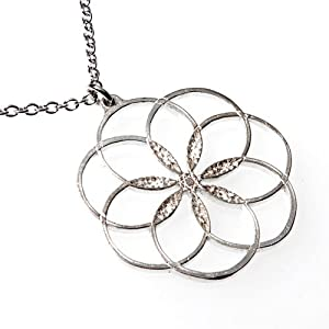 7 Rings of Peace Silver-dipped Pendant Necklace