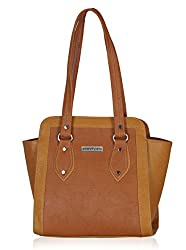 Fantosy Women's Handbag (Tan and yellow) (FNB-613)