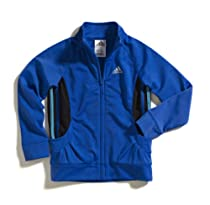 adidas Girls 2-6X Fashion Tricot Jacket, Bright Blue, 2T