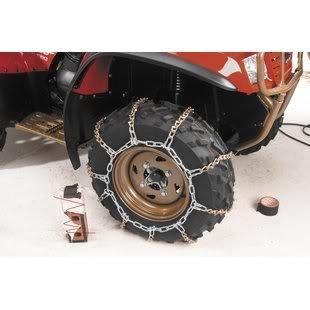 1998-2004 Honda TRX 450 ES Foreman 4x4 ATV V-Bar Tire Snow Chains [Rear] (2001 Honda Foreman 450 Tires compare prices)